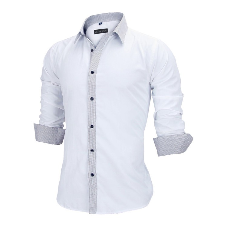 HTB1A5FPKVXXXXbSXVXXq6xXFXXXY - New Arrivals Slim Fit Male Shirt Solid Long Sleeve British Style Cotton Men's Shirt N332