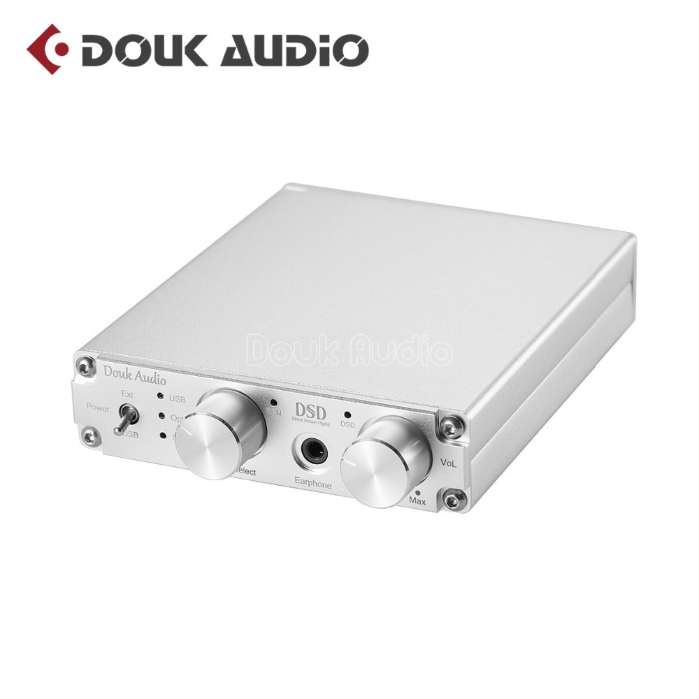 XMOS USB DAC Audio Decoder DSD1796 HiFi Headphone Amp SPDIF volume control