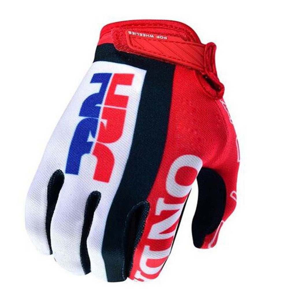 Gloves Dirt-Bike Touring Motorcycle HRC Red Men Air-Mesh Men's