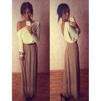 여성의 그리스어 스타일의 긴 섹션 우아한 쉬폰 셔링주름으로 깊은 v 넥 럭셔리 섹시 맥시 드레스 B1111