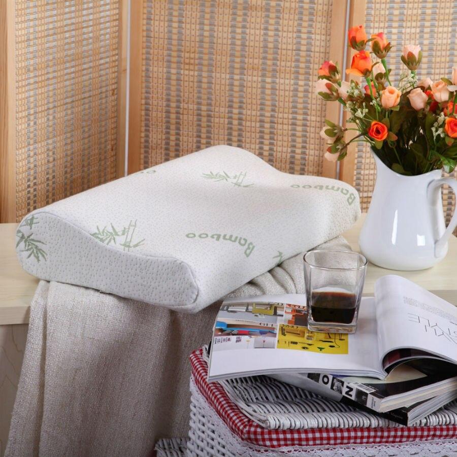 BEYOND CLOUD Health Care Memory Foam Bedding Pillows Original Bamboo Fiber Shell Slow Rebound Support Neck Fatigue Relief 078