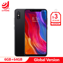 "Global Version Xiaomi Mi8 Mi 8 6GB RAM 64GB ROM Snapdragon 845 Octa Core 6.21"" 2248x1080 12MP Dual Rear Camera NFC Infrared"