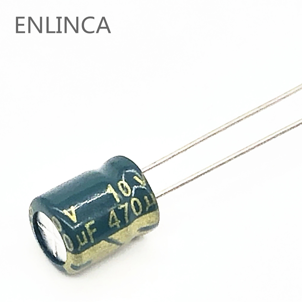 20pcs/lot 10v 470UF Low ESR / Impedance High Frequency Aluminum Electrolytic Capacitor Size 6X7MM 470UF 20%