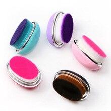 2018 New 1pcs 6*4cm Egg Shape Big Powder Blush Foundation Cosmetic Make Up Tool Face Beauty Essentials Soft Hair Makeup Brush