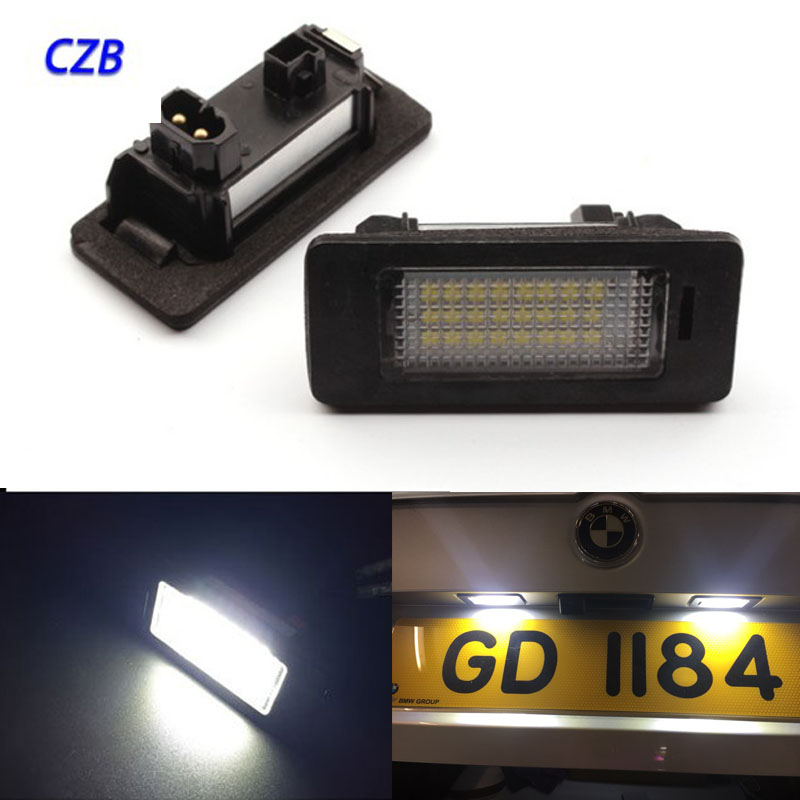 2 Pcs Pure White  18SMD For BMW e60 License Plate Light Number E39 M5 E70 E71 X5 X6 E60 Fast Ship