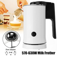 570 630W Automatic Milk Frother Steamer Electric Frother Cup Soft Foam Maker Hot Cold and Warmer for Coffee Creamer Milk Heater