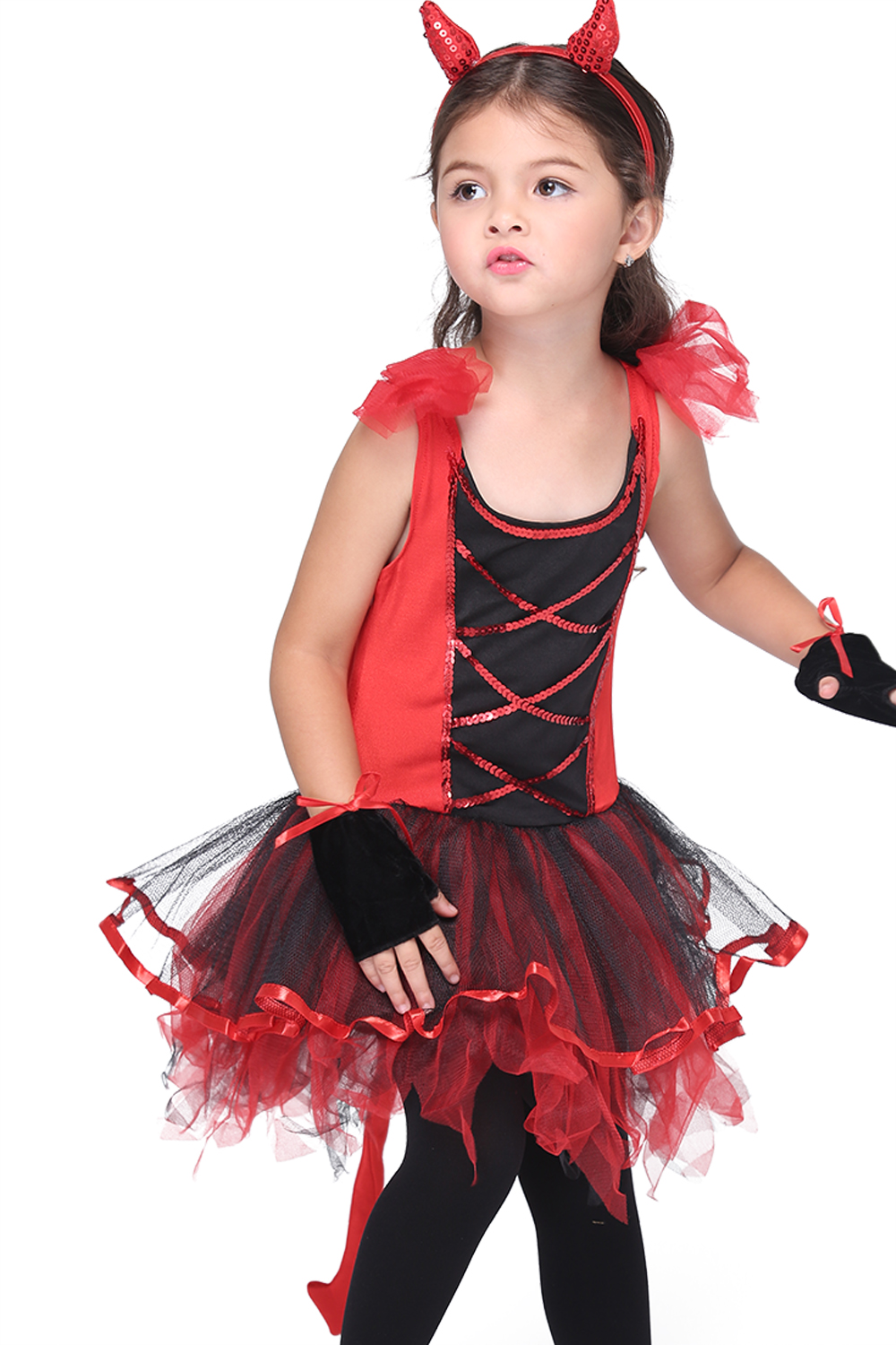 Little Devil Costume Fancy Children Halloween Red Demon Costume ...