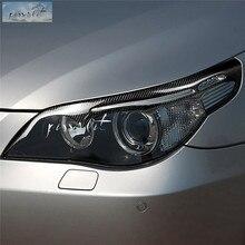 Аксессуары для стайлинга автомобилей для BMW E60 5 серии 04-2011 углеродное волокно фары Брови Веки передняя фара брови накладка