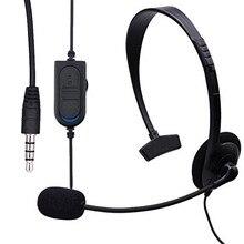 Черный 3,5 мм гарнитура с микрофоном для Playstation 4 Jack Проводная гарнитура оголовье одного громкости наушников Управление для PS4