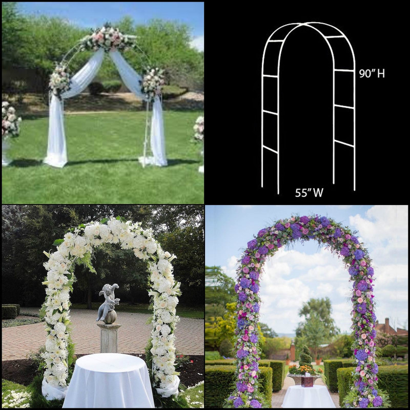 Steel Pipe Material Wedding Arch Pergola Garden Metal