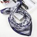 Homens Inverno lenços de seda Quadrado Lenço de seda de Luxo Masculino Xadrez Impressão New Design Moda masculina Cachecol Presente LH001