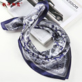 silk scarves men Winter Square Luxury Male silk Scarf Print Plaid New Design Fashion male Scarf Gift LH001
