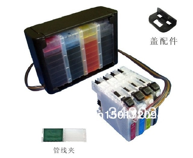 PROCOLOR CISS for BROTHER LC103 LC113 LC123 LC133 LC115 LC125 LC135 LC565 MFC J870DW Printer With