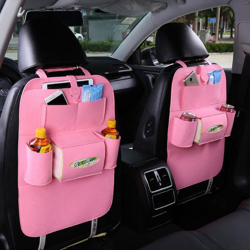 Image 2 - 1PC Car Storage Bag Universal Box Back Seat Bag Organizer Backseat Holder Pockets Car styling Protector Auto Accessories-in Stowing Tidying from Automobiles & Motorcycles