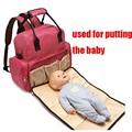 5 En 1 Cuidado Del Bebé Cambio de Pañales Bolsas Mamá Bolsa de Pañales Mochila Para Bebés Cochecito de Bebé Multifuncional Bolso de Viaje BB0092