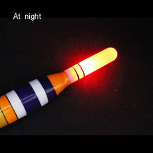 1pcs Fishing Float LED Electric Light + Battery Deep Water Tackle Bobber Gear With electrons