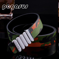 Smooth Leather Buckle Outdoor Camouflage Men S Belt