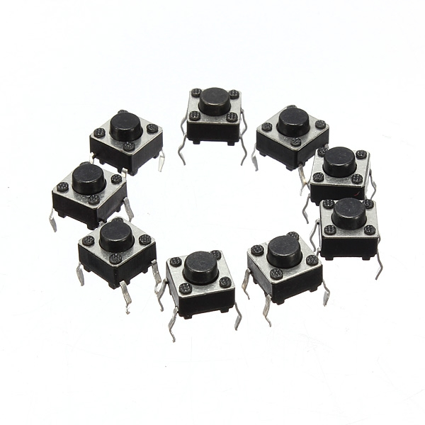 100pcs Tact Tacticle Switch Push Button 6*6*5mm 4 Pin Chip SMD Momentary 6X6X5mm