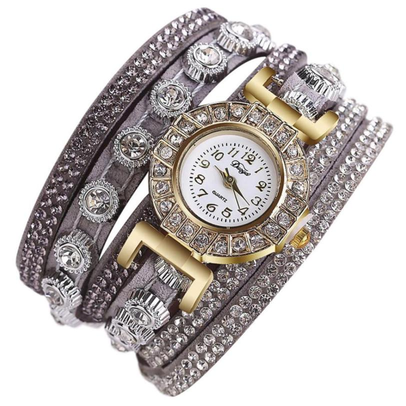 Women Fashion Casual Analog Quartz Women Rhinestone Watch Bracelet Watch woman watches 2018 brand luxury Quartz Bracelet l 10 women s stylish petals style bracelet quartz analog wristwatch golden white 1 x lr626