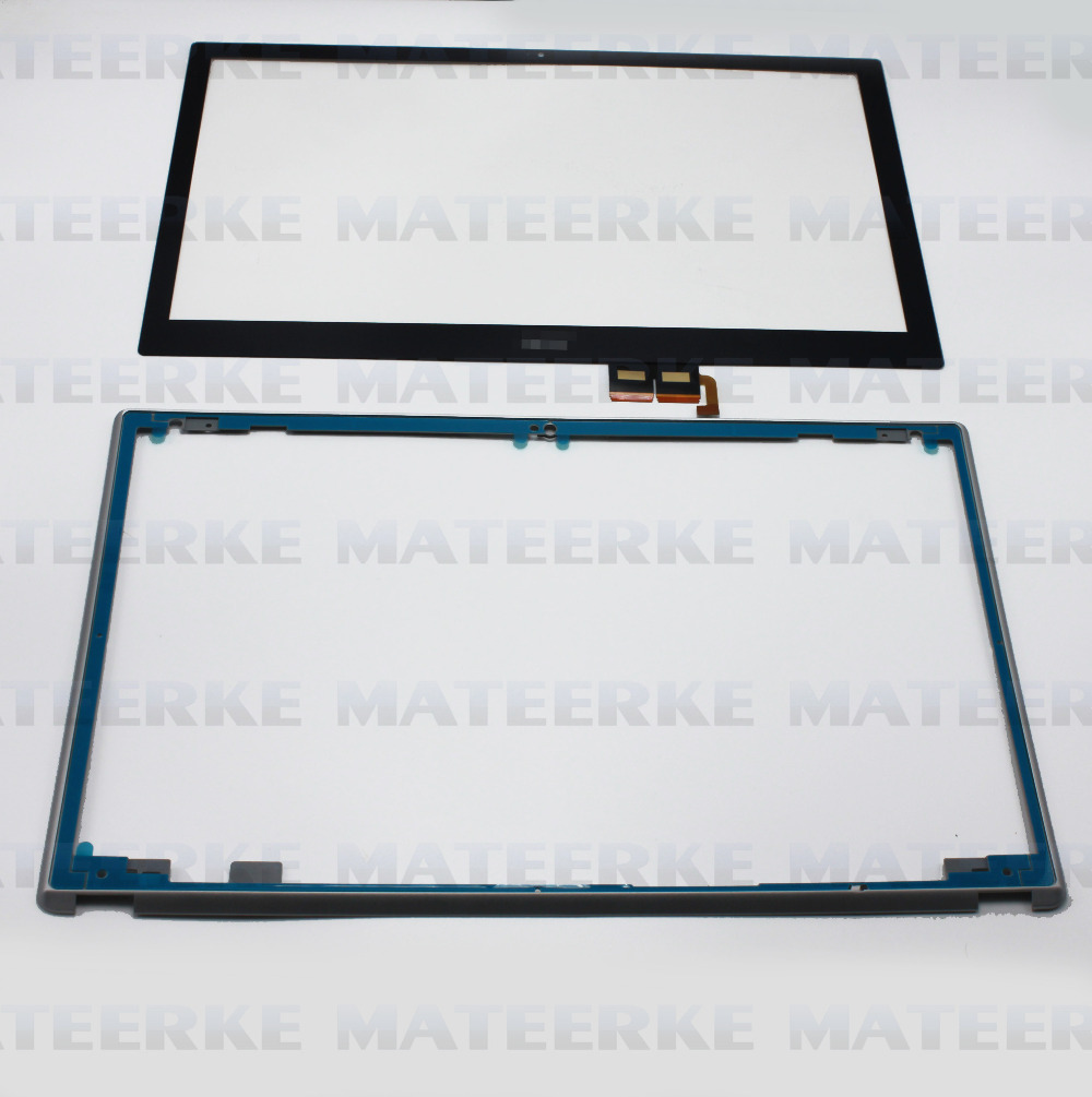 New 15.6 Touch Screen Digitizer Glass Replacement For Acer Aspire V5-531P V5-531P-4129 +Frame new 15 6 foracer aspire v5 571 v5 571p v5 571pg touch screen digitizer glass replacement frame