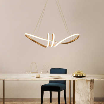 Led Pendant Light Gold Color for Dining Room Living Room Kitchen Luminaires Led Pendant Lamp Hanging Lamp Light Fixtures