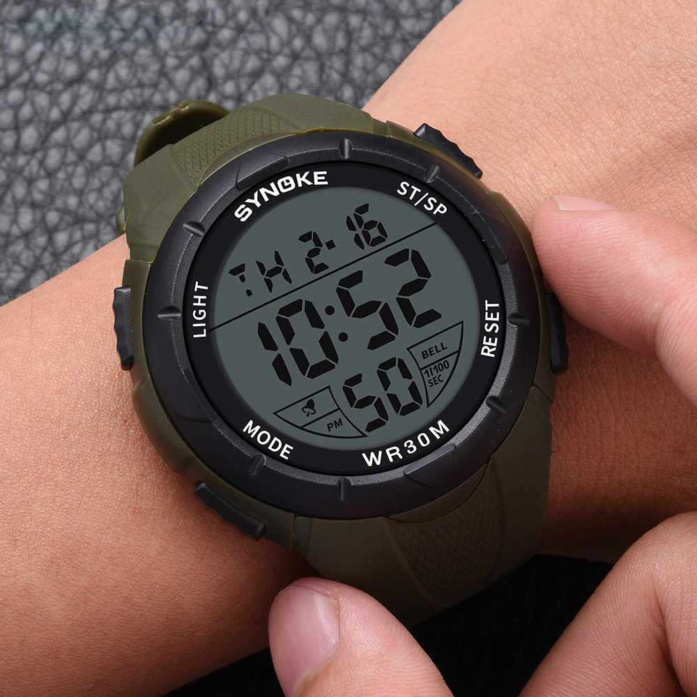 Multifungsi Digital Watch Pria Outdoor Tahan Air LED Running Watch Sport Jam Tangan Pergelangan Tangan Digital Watch Relogio Digital