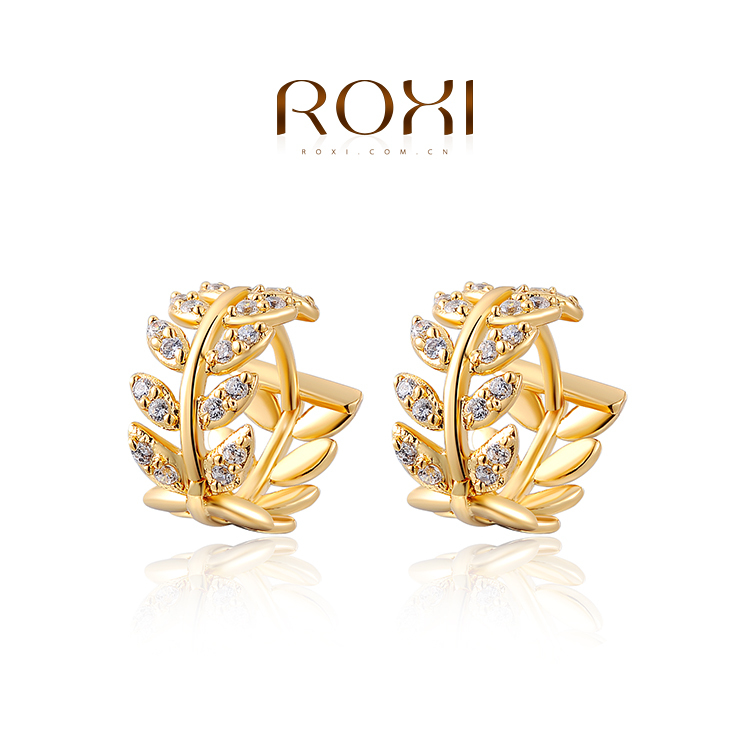 ROMAD Earrings Genuine Austrian Crystals GoldPlated,Fashion Women ...