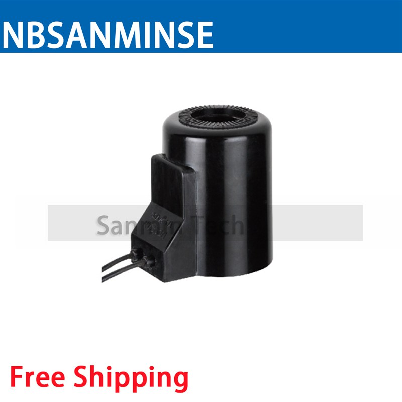 DOOS Automobile Valve Series Coil Electrical Solenoid Valve Coil DC24V Voltage Lead Type Valve Coil Sanmin
