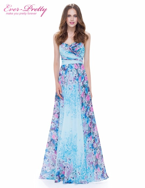 Ever Pretty New Arrival Floor Length Dress EP08944 Vintage Floral Print  Dresses Hot Selling Colorful Formal Evening Dress a040c890d03f