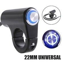 New 7/8 inch 22mm Motorcycle LED Handlebar ON OFF Switch Headlight Fog Light Waterproof Aluminum Alloy