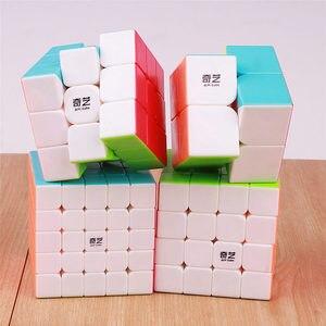 Image 5 - QIYI warrior 3x3x3 4x4x4 5x5x5 Magic Cubes Children Toys Speed Puzzles Cube Learning sticker less Magico Toys pocket Cube 2x2x2