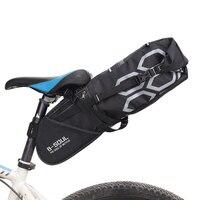 B SOUL Waterproof Bicycle Saddle Bag 12L Big Capacity Bike Seatpost Bag MTB Cycling Rear Seat
