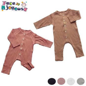 Newborn Baby Boy Girl Clothes toddler Solid long Sleeve Romper Outfits rompers baby autumn ribbed baby clothes roupa menina - DISCOUNT ITEM  31% OFF All Category