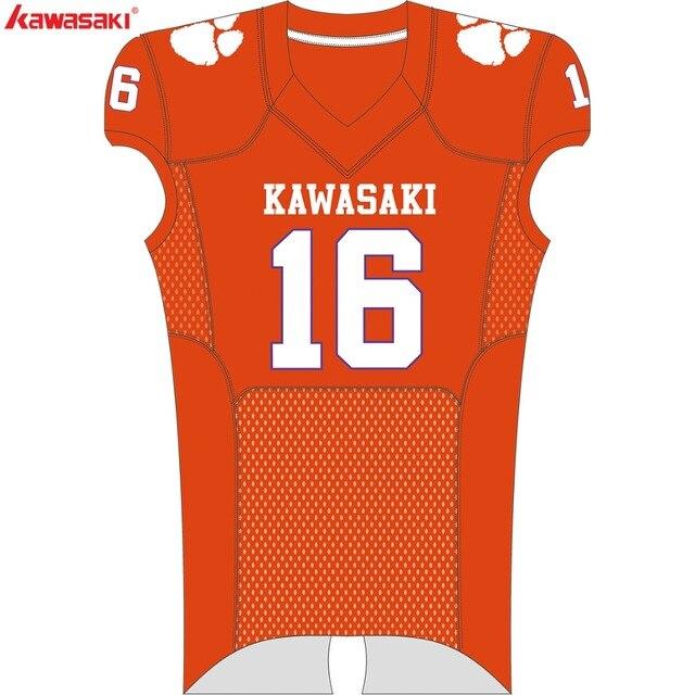 9bfcf17bfab Kawasaki Custom Football Jerseys Breathable Football American Sports Team  wear For Men Women Teenager Shirt Football 008