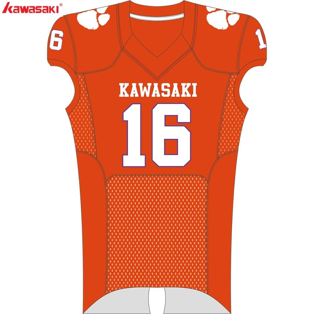 Kawasaki Custom fútbol Jerseys fútbol americano equipo de ropa ... 6cdee53111a42