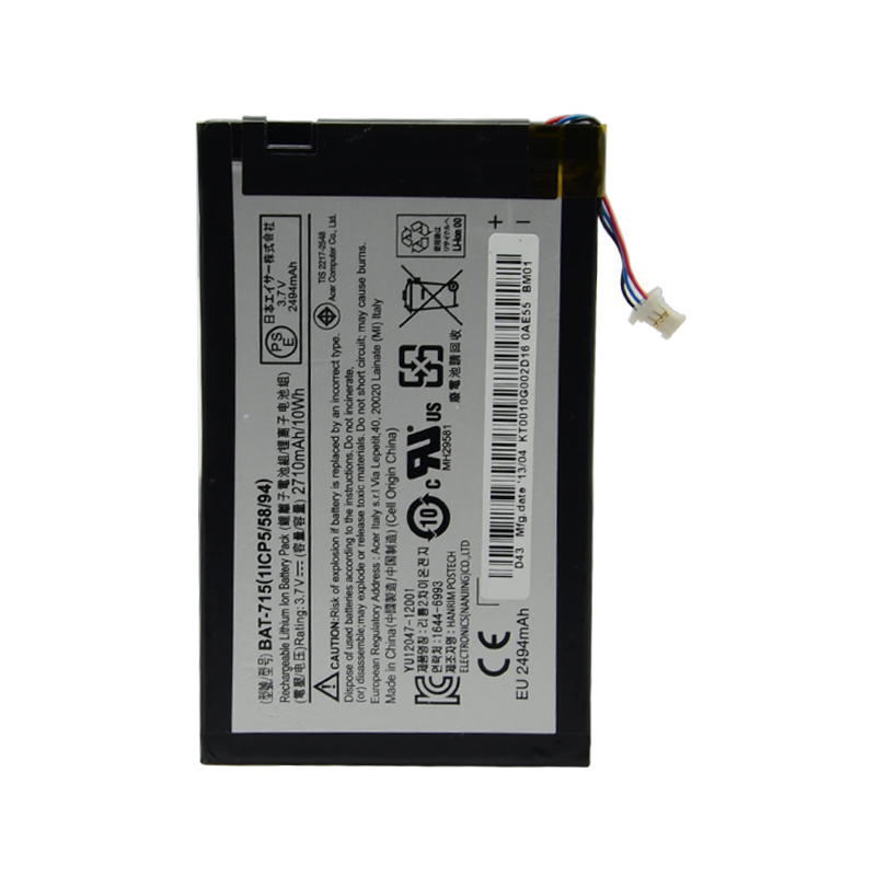 New Tablet PC Battery 2640mAh BAT 715 For Acer Iconia Tab B1 A71 B1 710