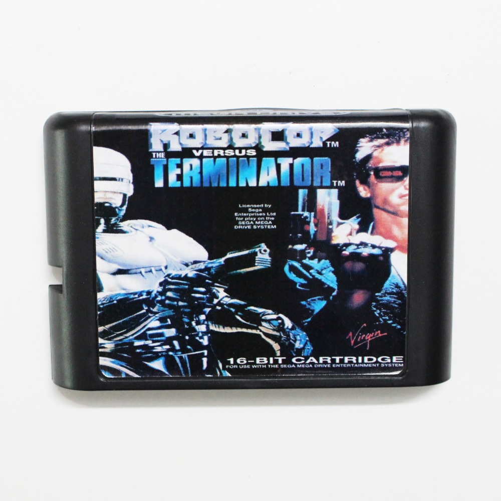 robocop versus terminator 16 bit md game card for sega mega drive