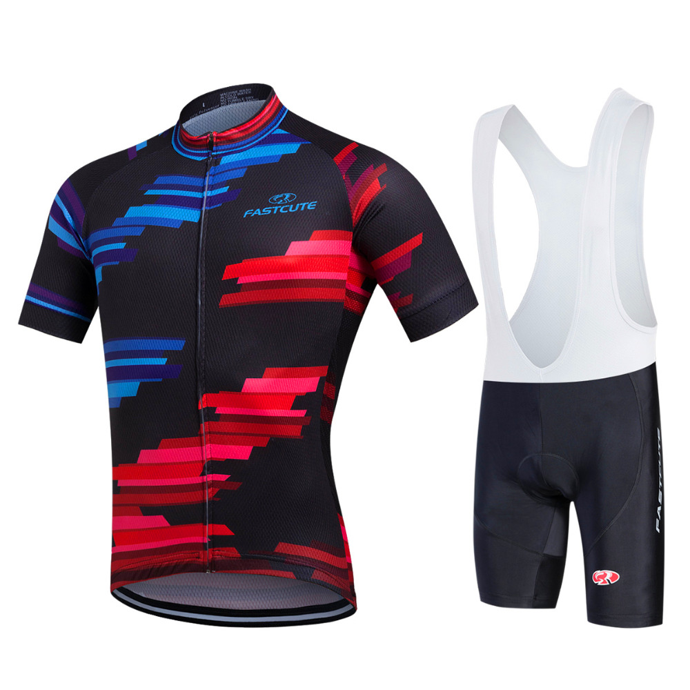 Cycling Clothing Us 26 33 45 Off Fastcute Cycling Jersey Multicolor Bicycle Bike Short Sleeve Sportswear Cycling Clothing Maillot Cycling Jerseys Set In Cycling Sets