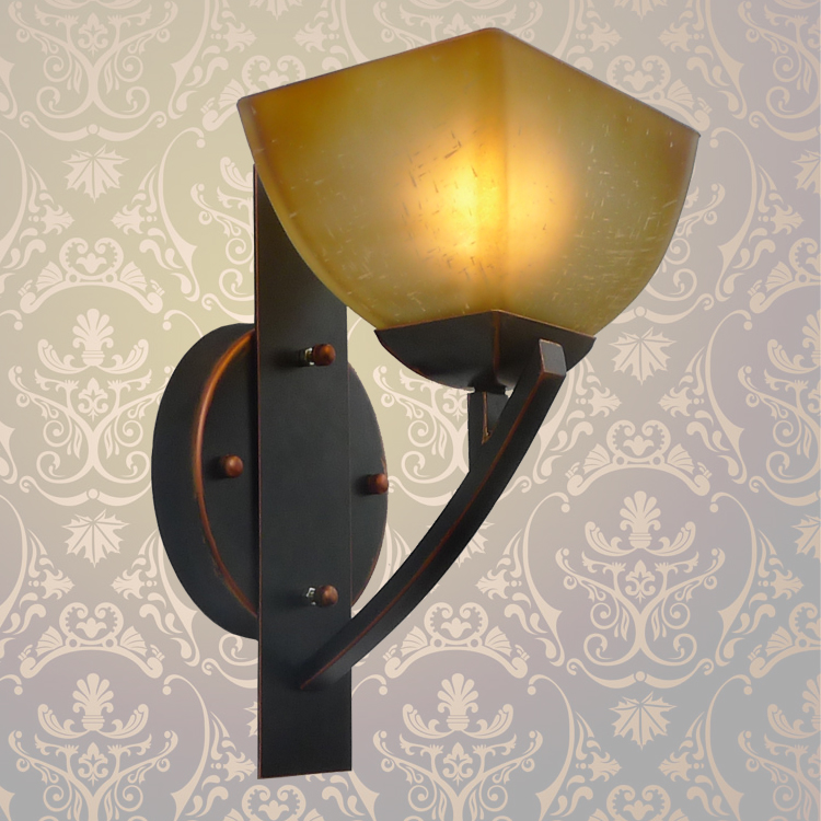 lamps European style wall lamp bedside lamps simple creative North European style antique garden living room bedroom aisle light