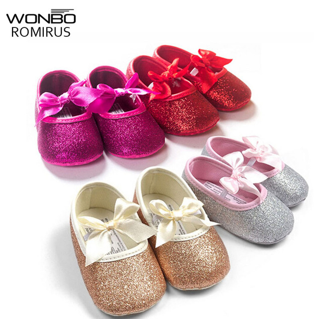 932a26db8752 Fashion baby girl shoes Hot sale girl first walkers Bling baby girl shoes  for 0-12 month baby Gold Pink Silver hot pink colors