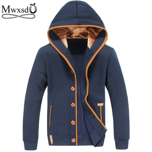 Mwxsd brand Mens autumn Hoodies for Men sweatshirt men's fleece hooded jacket male hoody Overcoat
