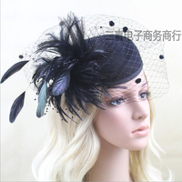 2014 Hot Selling Cheap In Stock White Tulle Bridal Hat Mysterious Sexy Cover Face Bridal Hat