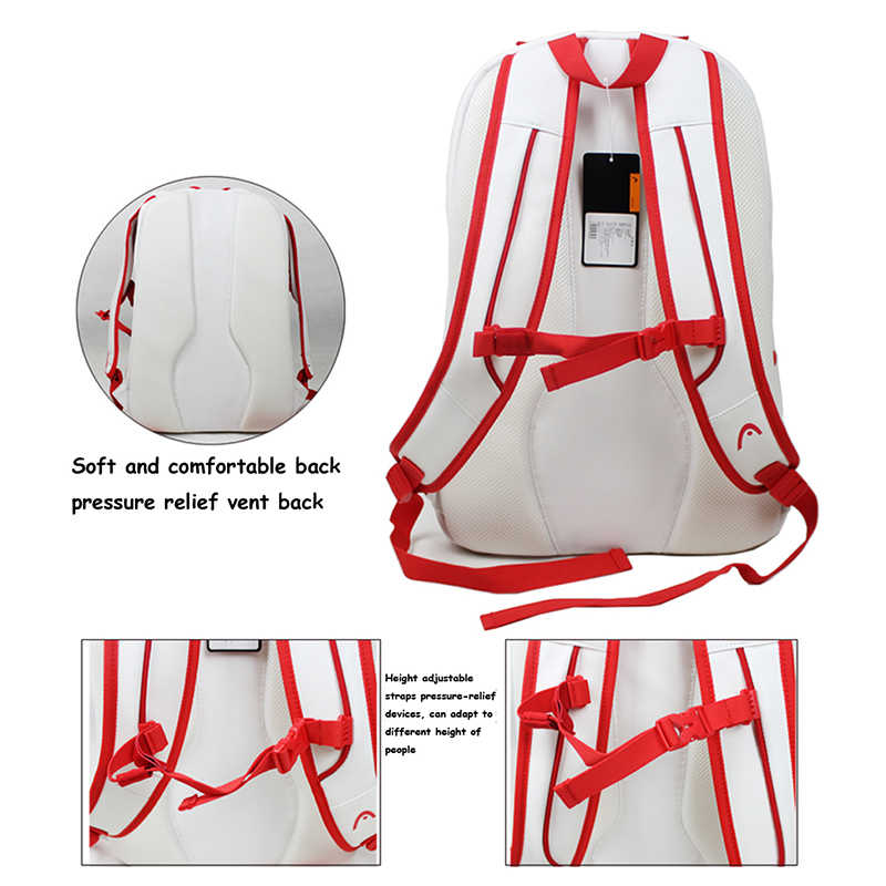 Original HEAD Tennis Bag Badminton Racquet Backpack Tennis Racket Bag Tennis Racket Backpack Raquete Tenis Backpack Christmas