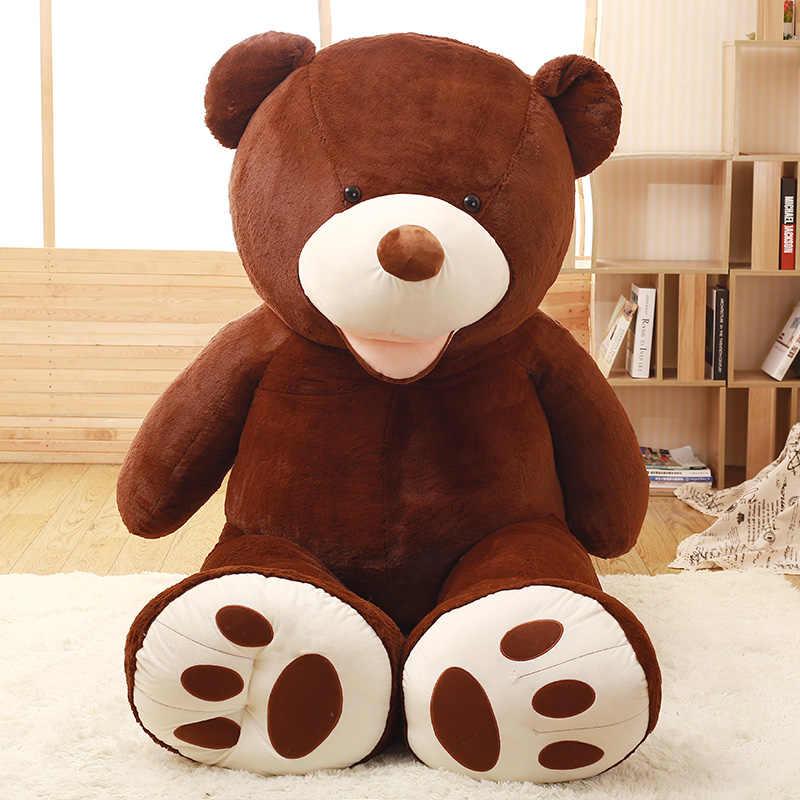 Estados Unidos ursinho de pelúcia boneca urso urso de pelúcia peles de grandes dimensões casaco shell Americano de pele de urso shell fabricantes que vendem