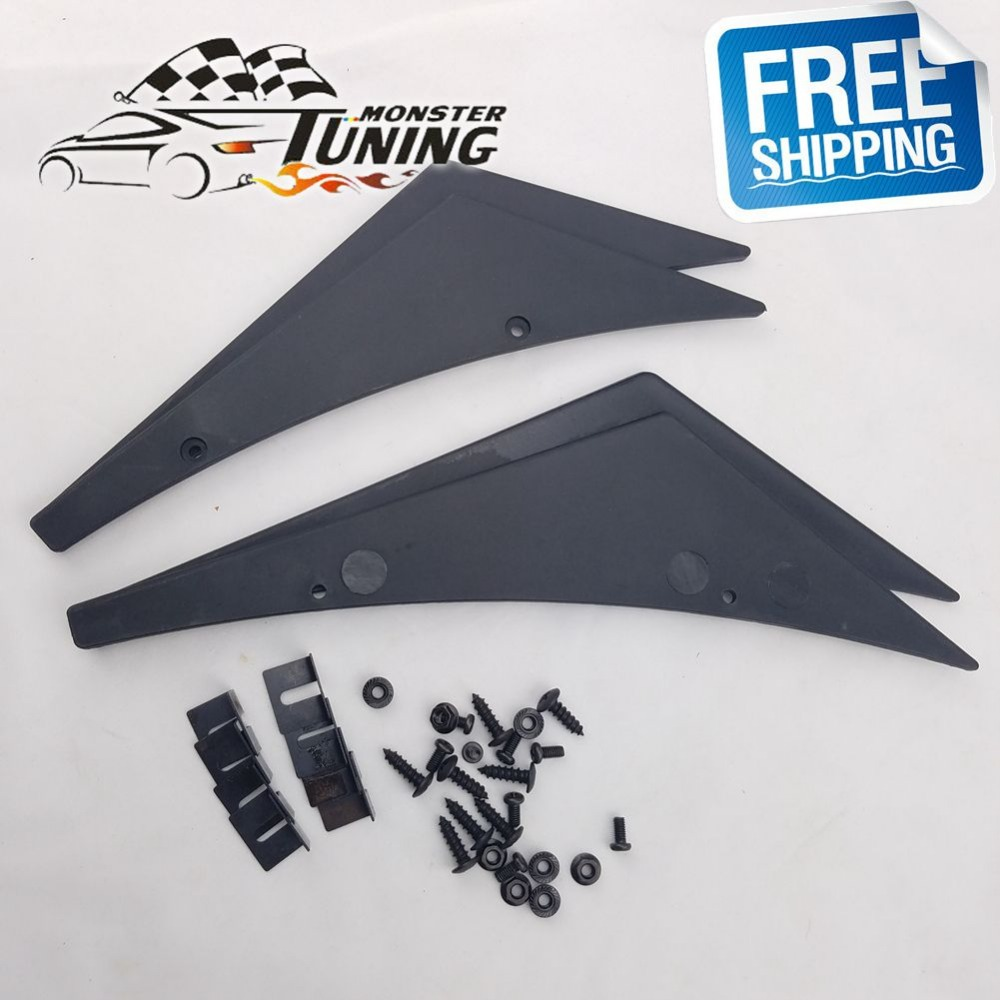 Free Shipping New Fit Front Bumper Lip Splitter Fins Body