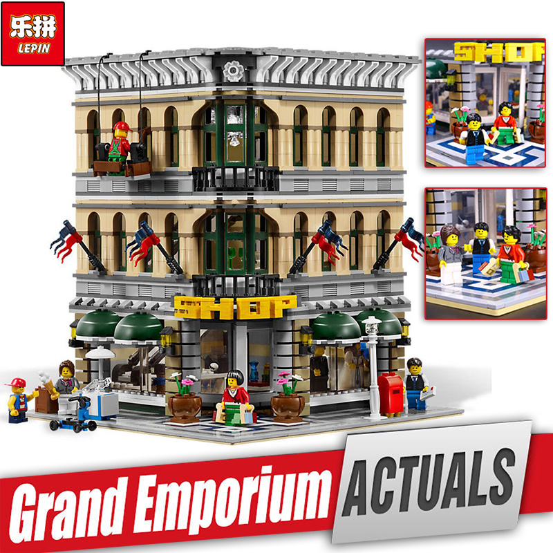 LEPIN 15005 Genuine City Grand Emporium Model Educational Building Kits Brick Funny Toy  Compatible With toys legoINGlys 10211