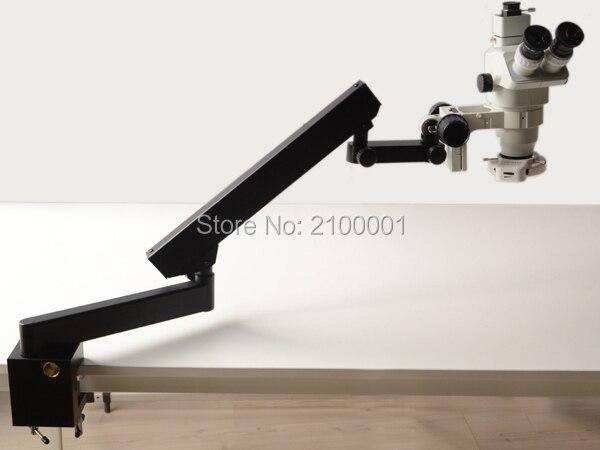 FYSCOPE MICROSCOPE stéréo à ZOOM 6,7 x-45x, support articulé avec pince + lumière 144led
