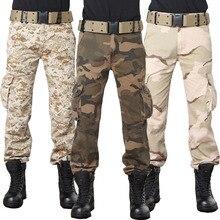2017 neue Mode Multi-tasche Kampfhose Taktische Militärische Stil Camouflage Cargohosen Männer Baggy Armee Grün Wüste Camou
