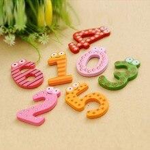 10pcs/set Number Large Cartoon Floral Wooden Fridge Magnet Decor for Baby Kids Educational Toy