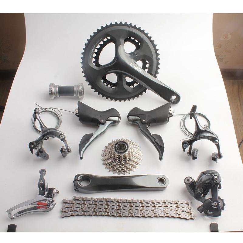 Shimano TIAGRA 4700 20s 2x10 Speed 52/36 170mm Road Bicycle Groupset Bike Kit цены